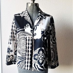 Jackets & Blazers - Chico's Print Lightweight Jacket Size 12